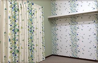 38:壁紙、カーテンのコーディネート及び施工