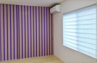 壁紙のコーディネート及び調光ロールスクリーンなどのコーディネート及び施工